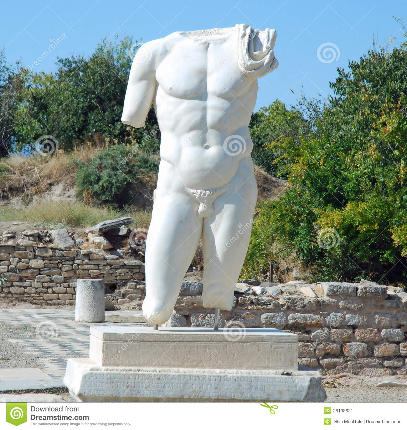 Aphrodisias - Male torso sculpture - Turkey