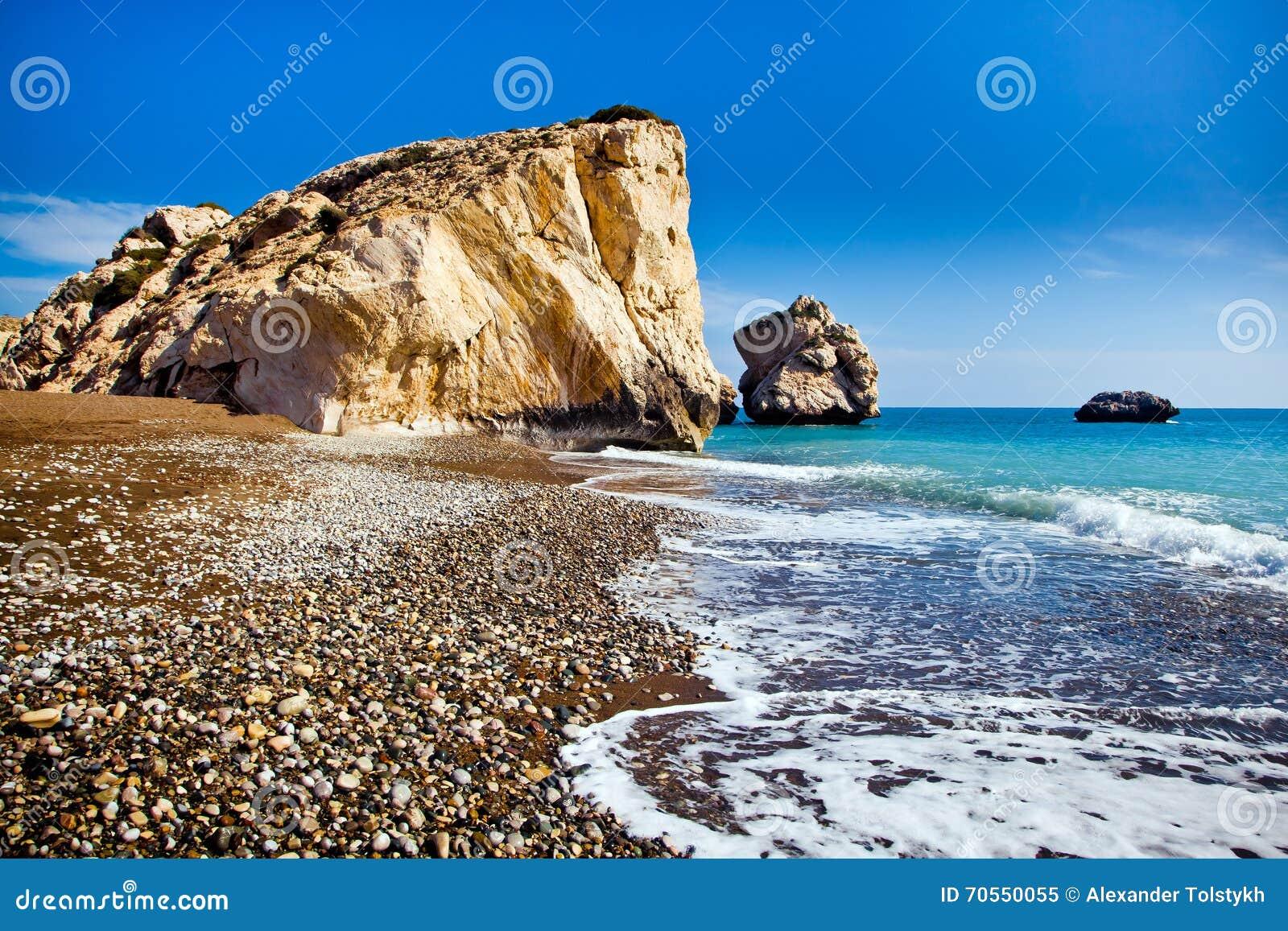 Aphrodite legendarny miejsce narodzin w Paphos, Cypr