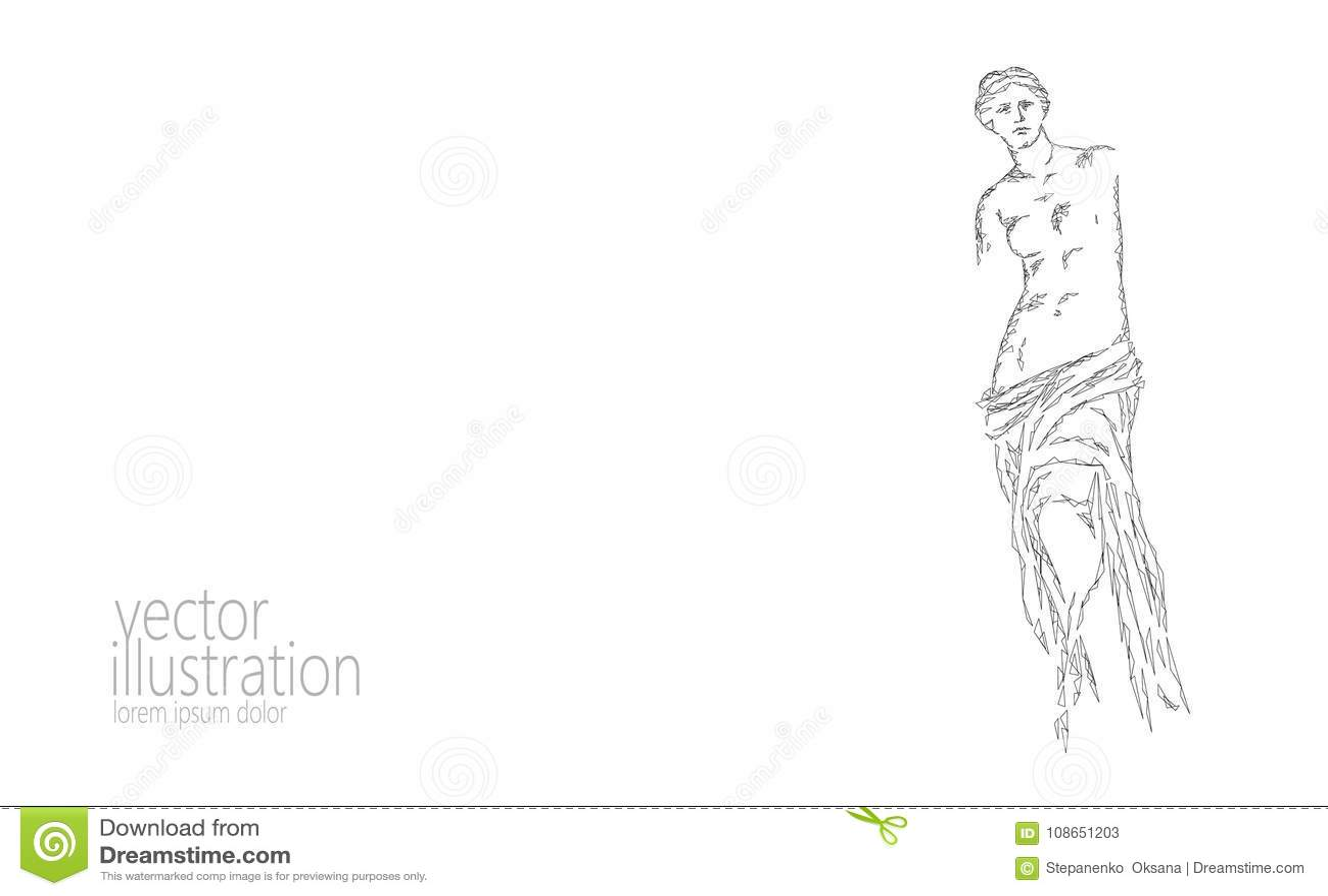 Aphrodite Of Milos Venus De Milo Ancient Greek Statue Low