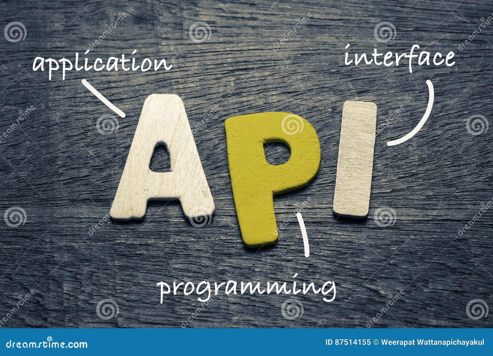 API Application Program Interface Stock Image - Image of