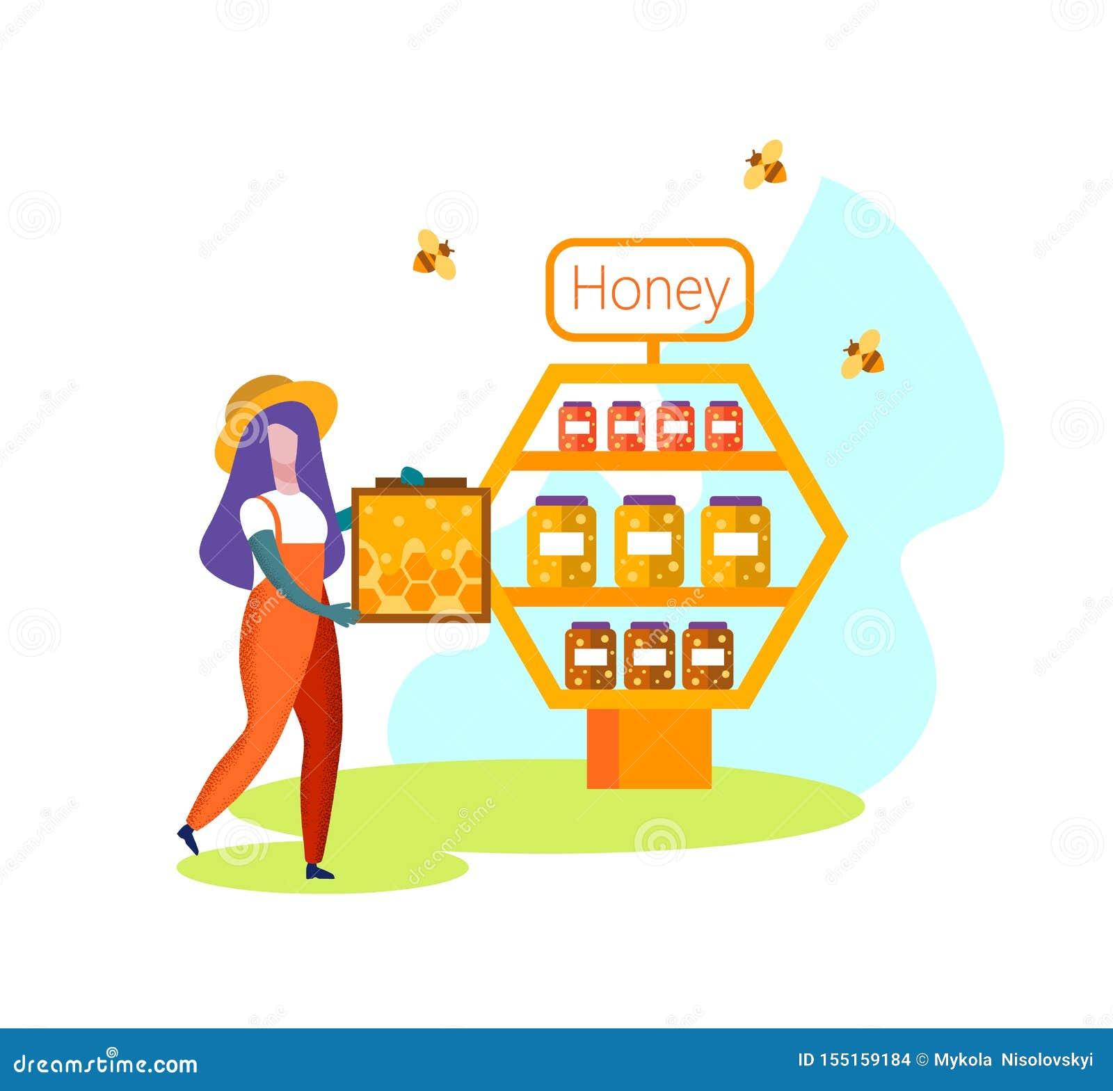 Apiculteur Farmer de femme dans Carry Honeycomb uniforme