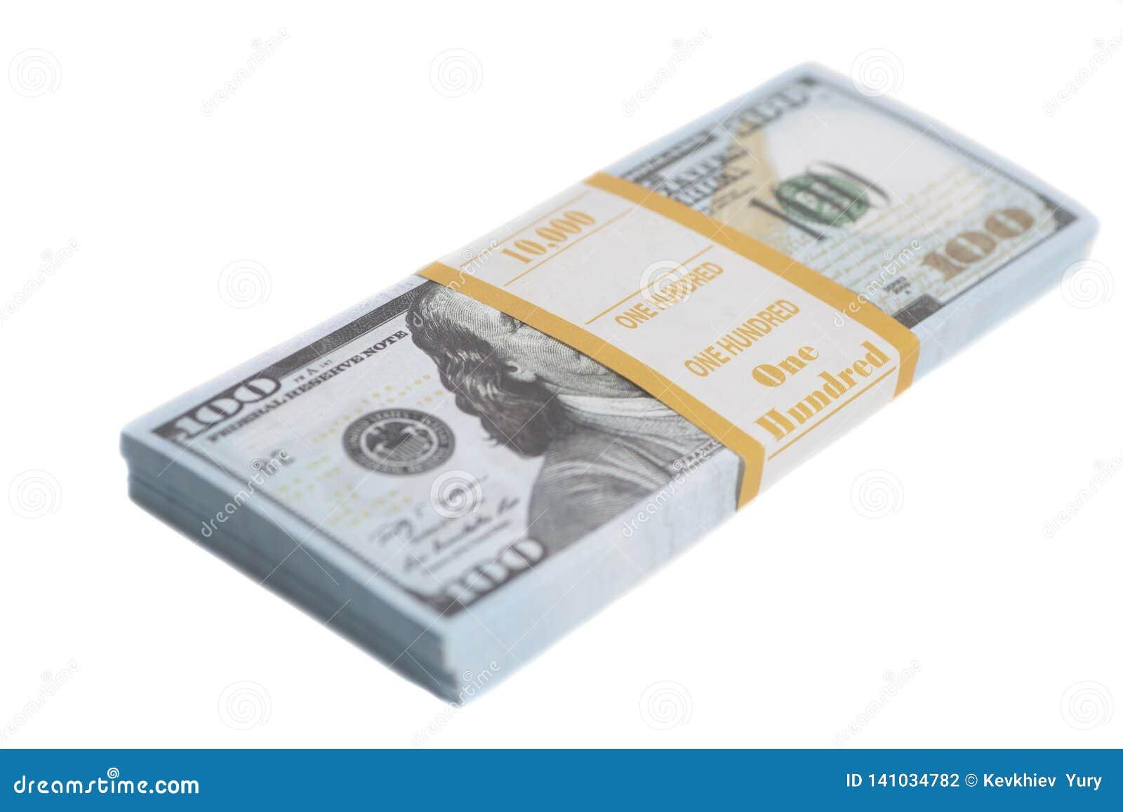 Apile cientos dólares de cuentas con la cinta
