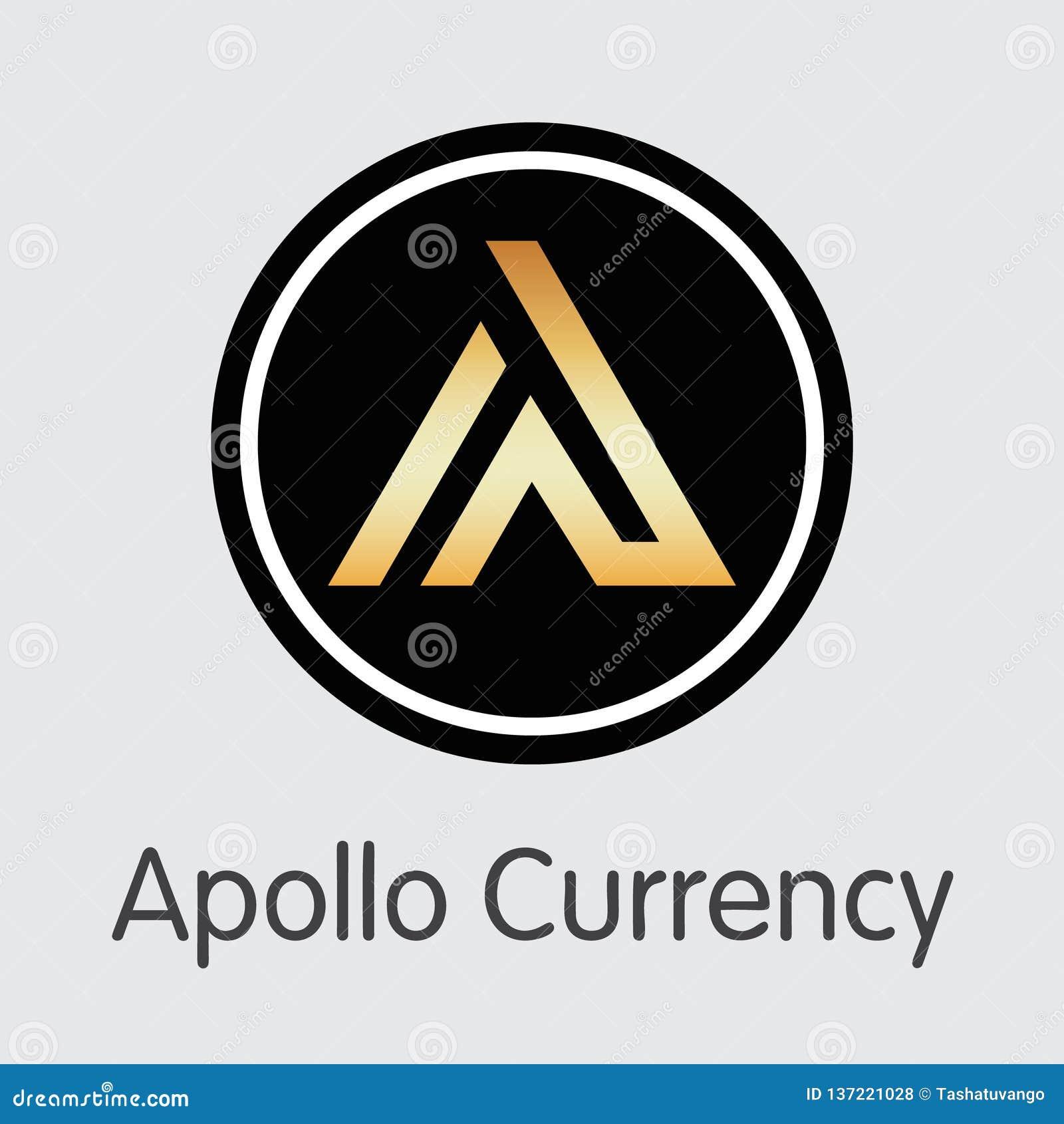 APL - Apollo Currency L icône de l emblème de pièce de monnaie ou de marché