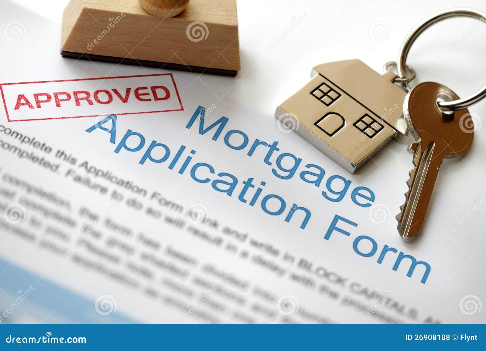Aplicação de hipoteca aprovada