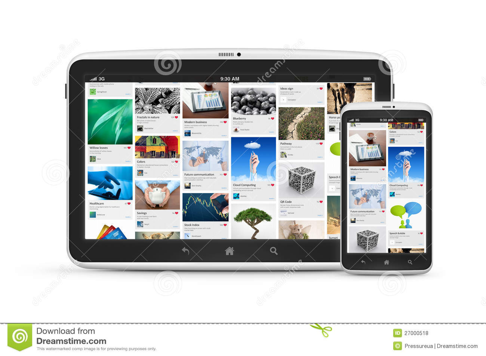 Aplicação social dos media em dispositivos digitais