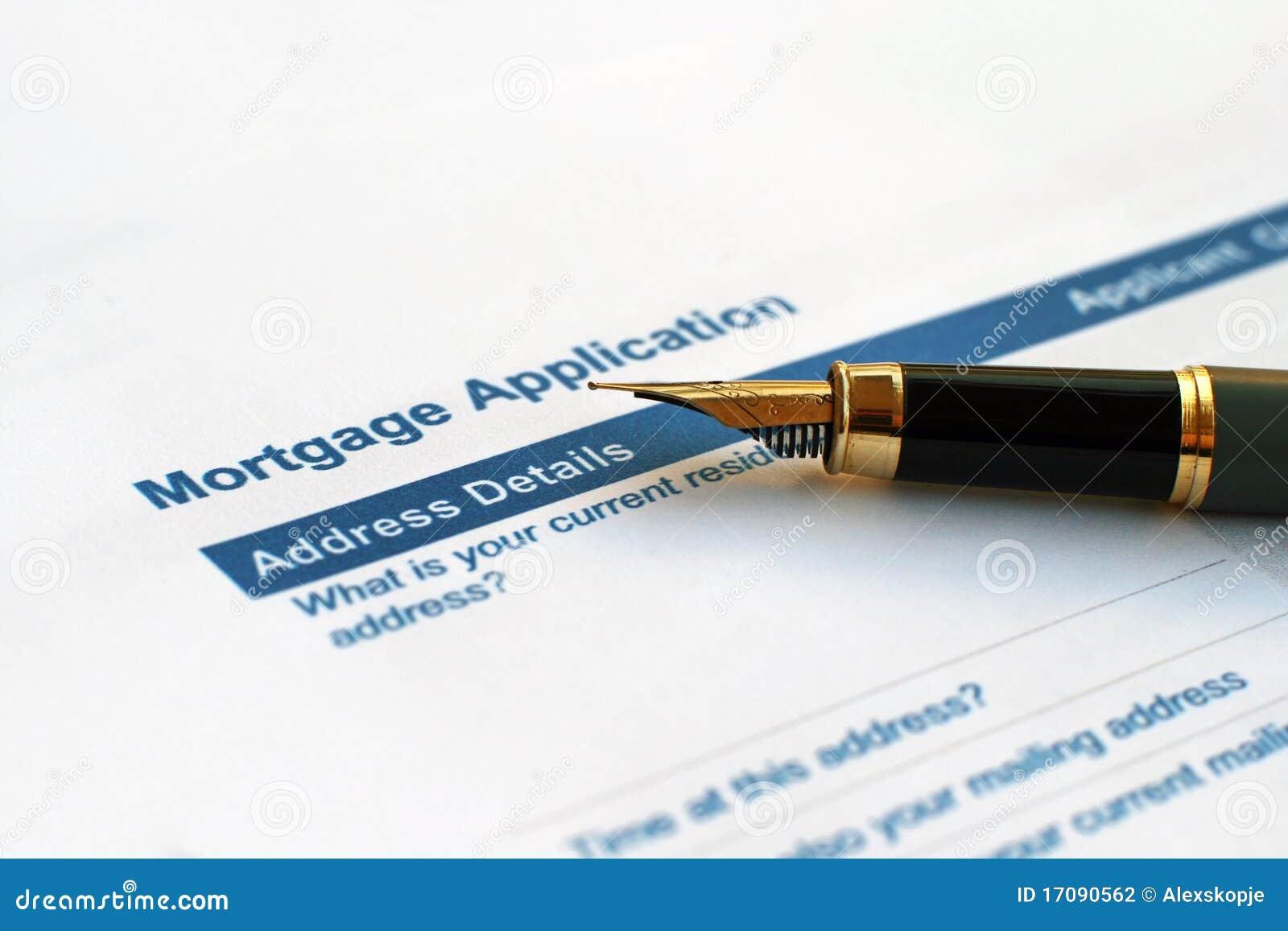 Aplicación de hipoteca