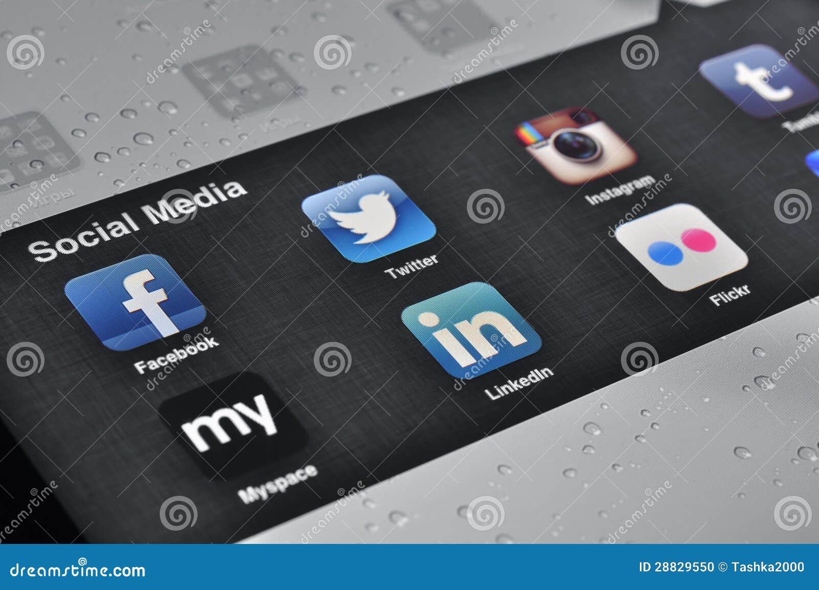 Aplicaciones sociales de los media en Ipad