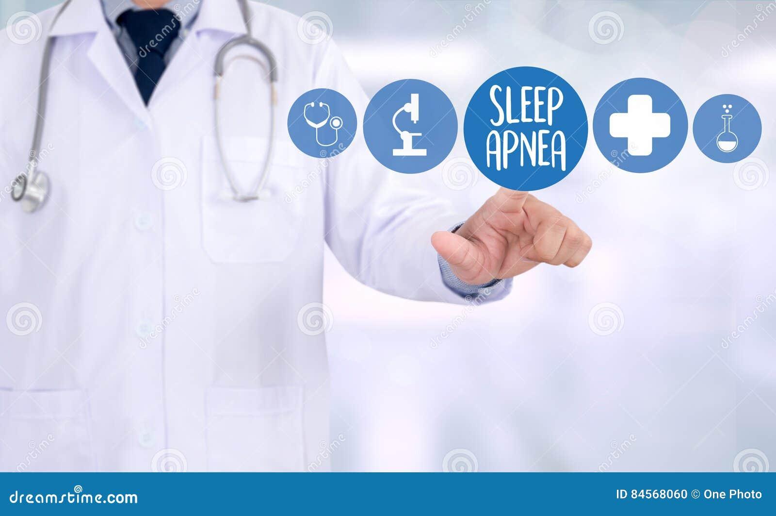 Apnea de sueño usando CPAP, APNEA de SUEÑO de la máquina, sueño de la diagnosis