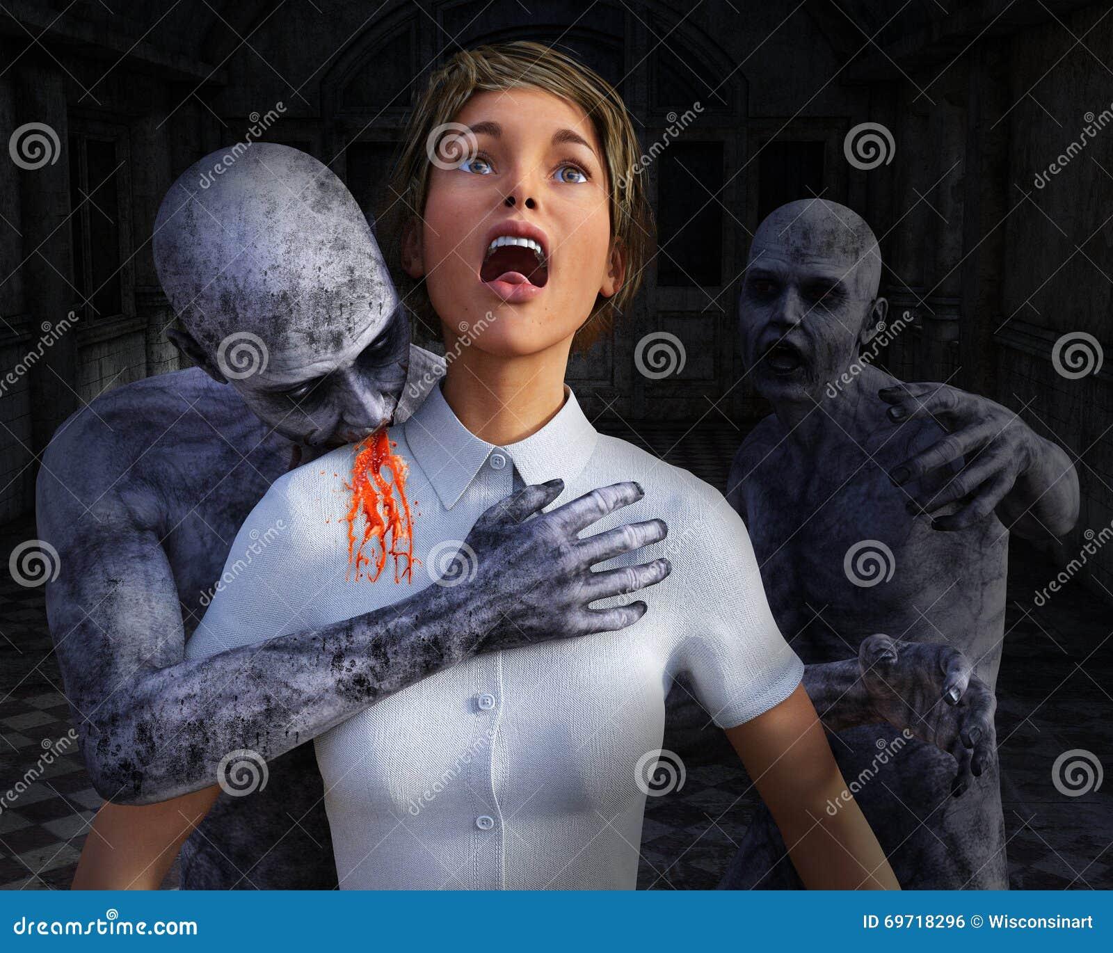 Apocalipse do zombi, vítima de Horro, Dia das Bruxas