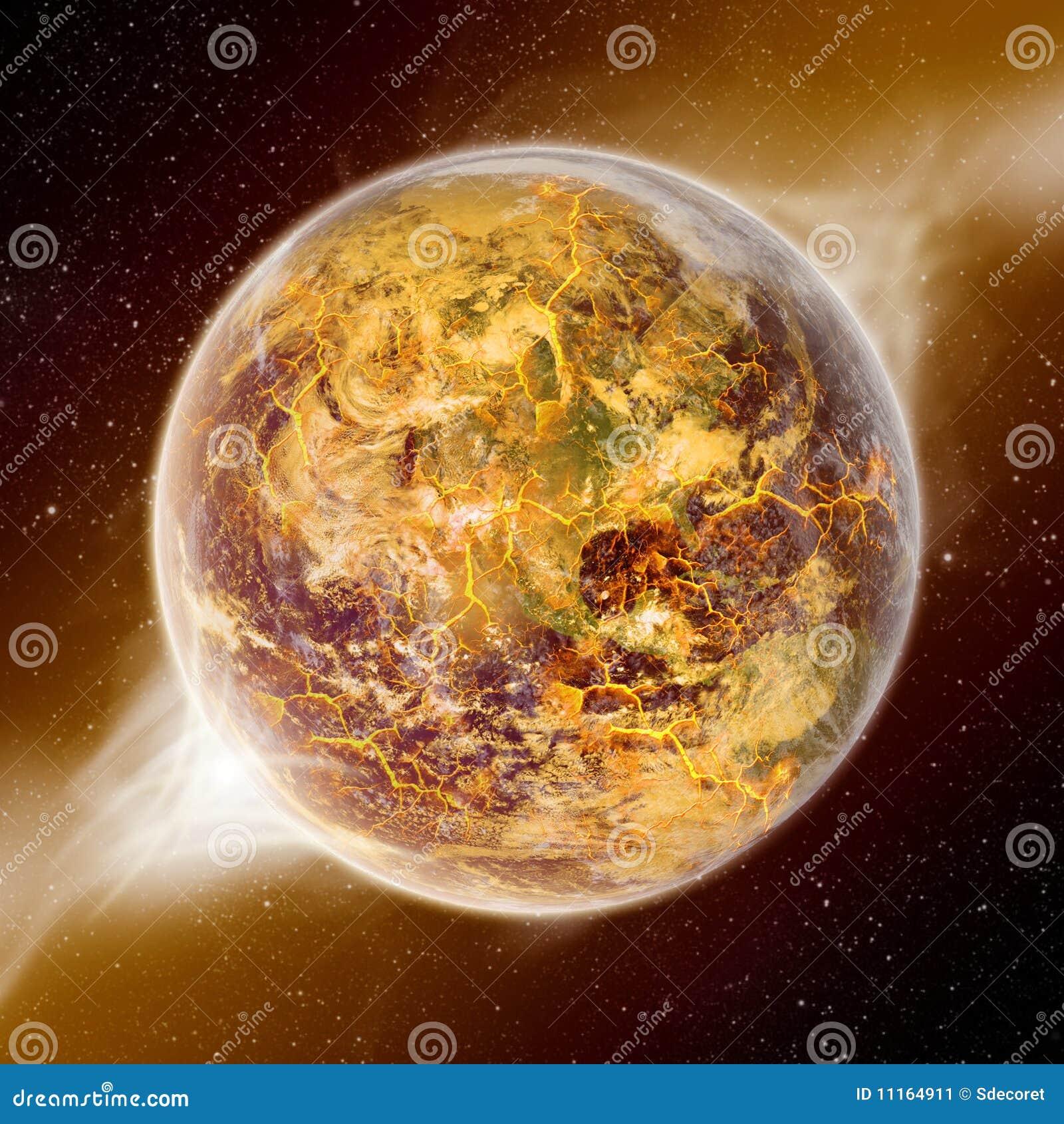 Apocalypse - extrémité de la terre du temps