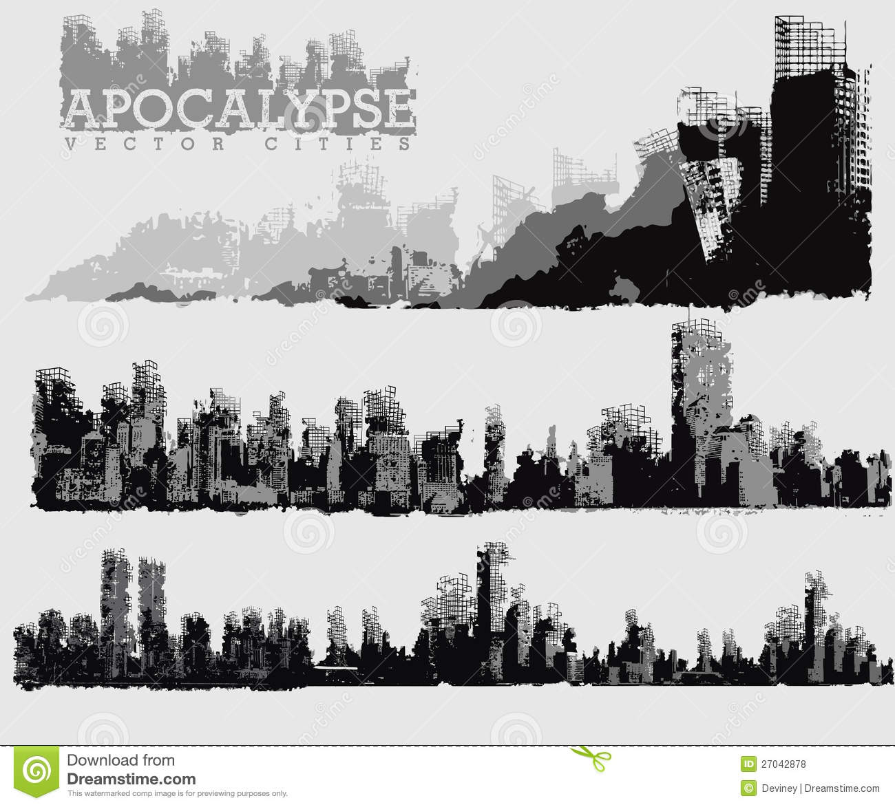 apocalyptic city illustration stock vector image 27042878 western stagecoach clipart stagecoach clip art black and white