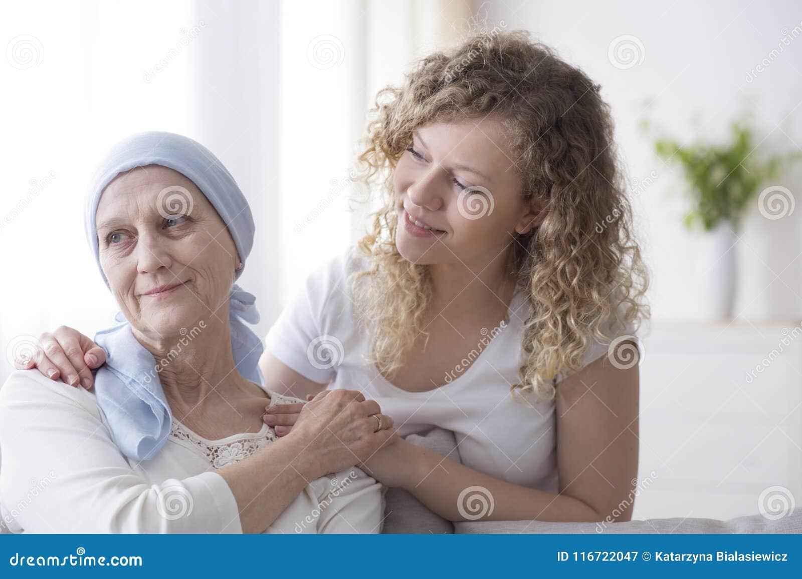 Apoio da família para a mãe doente