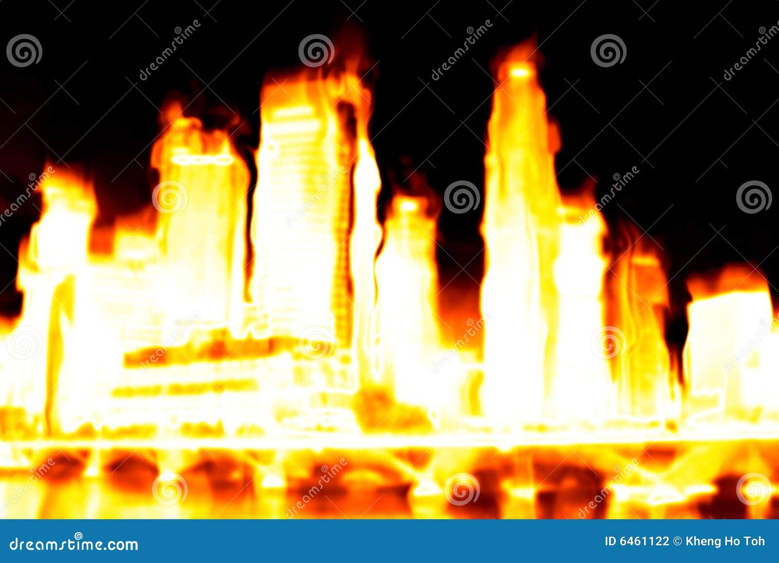 Apokalipsa płonący miasta