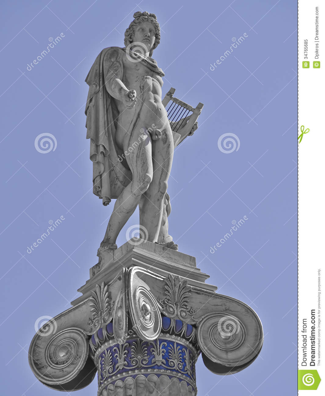 Apollo The Ancient Greek God Of Music And Poetry Stock ...