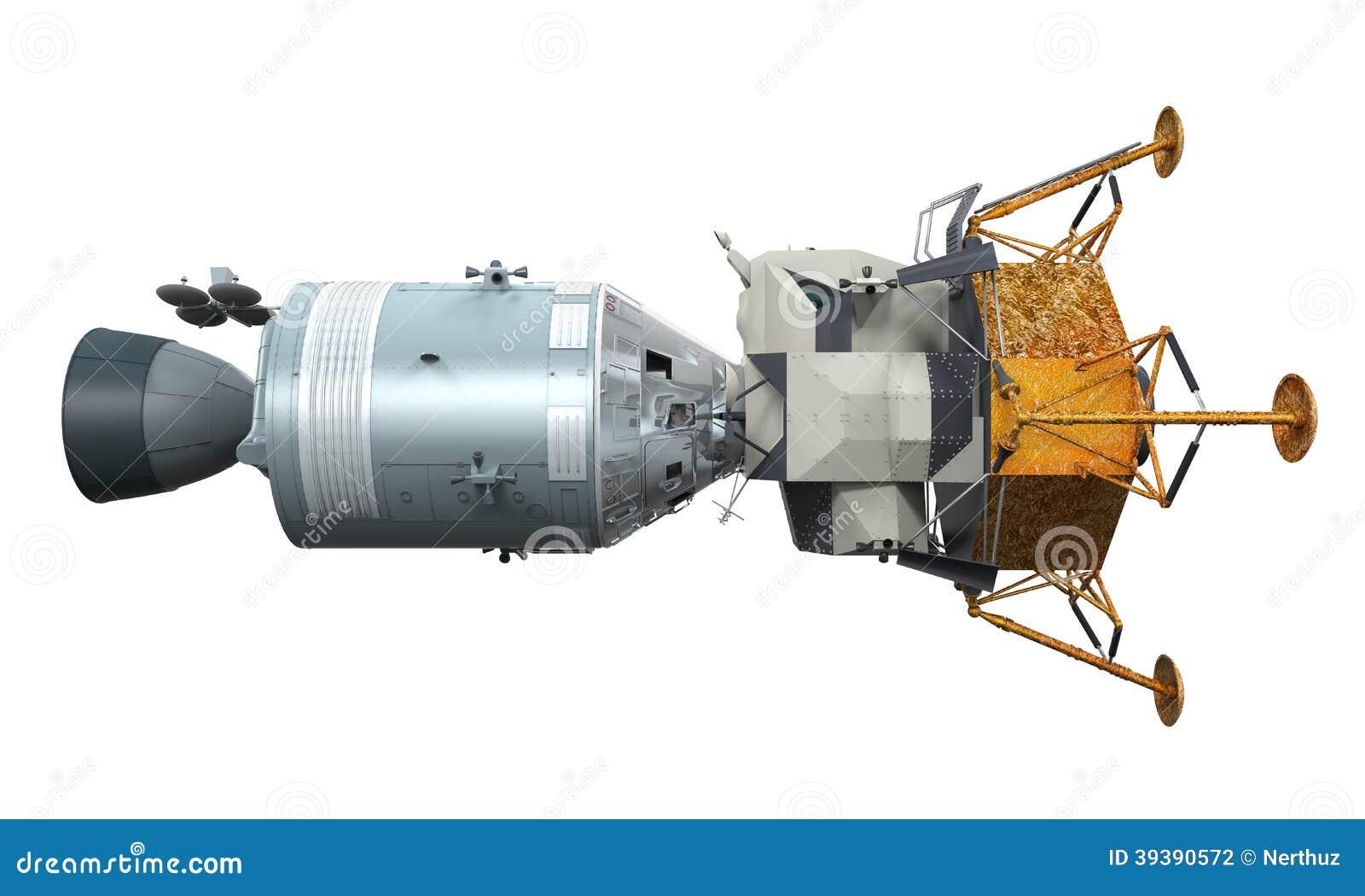 Apollo Module Docking Stock Illustration - Image: 39390572