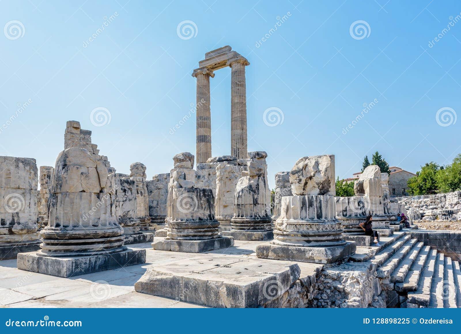 Apollo Temple på Didyma i Didim, Aydin, Turkiet