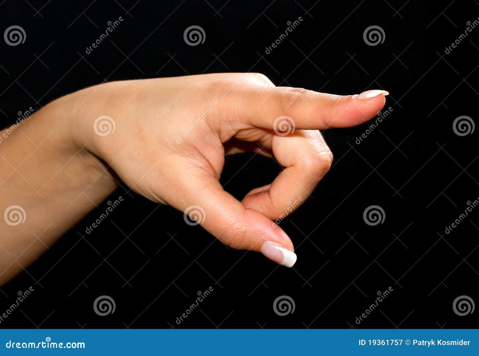 Apontando o dedo