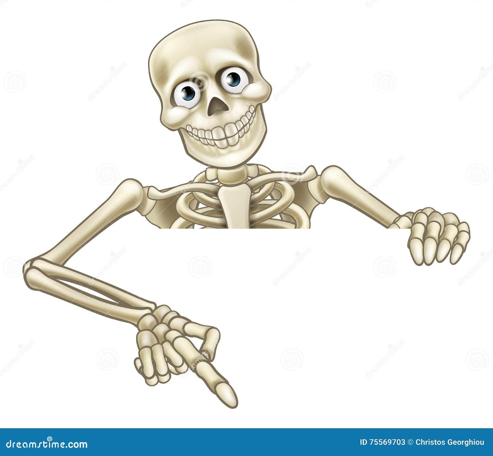 Apontar de esqueleto dos desenhos animados no sinal