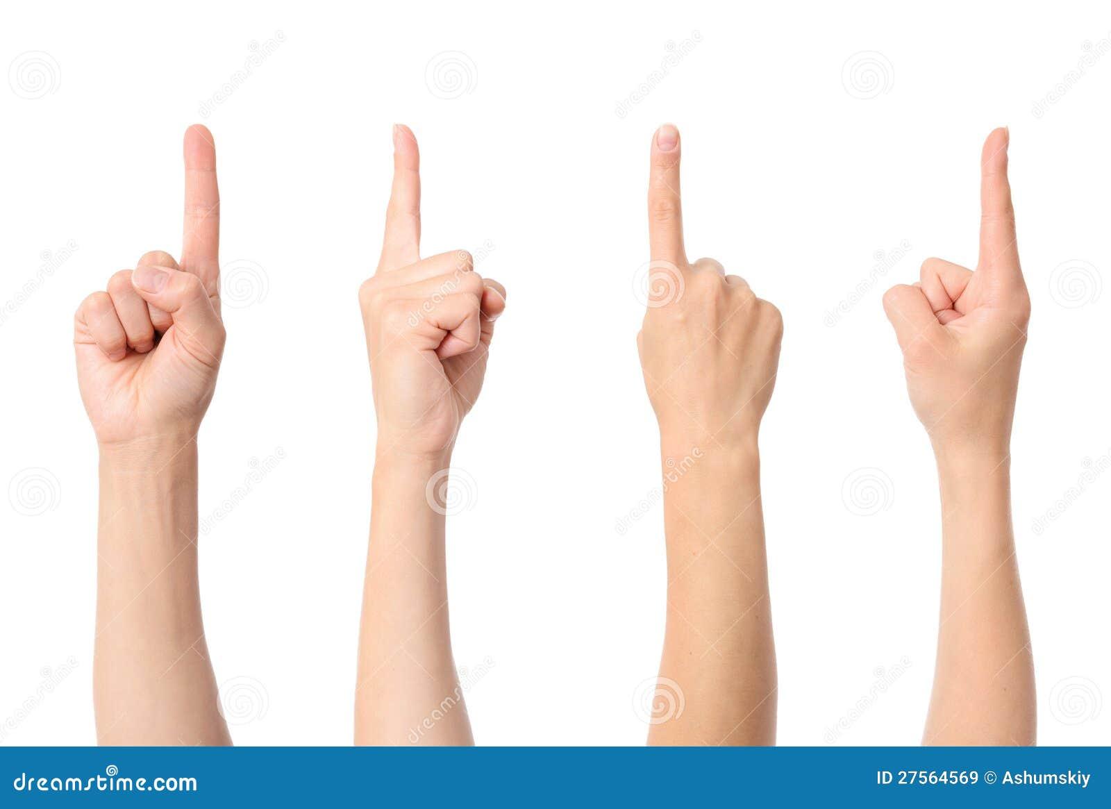 Apontar do dedo da mão