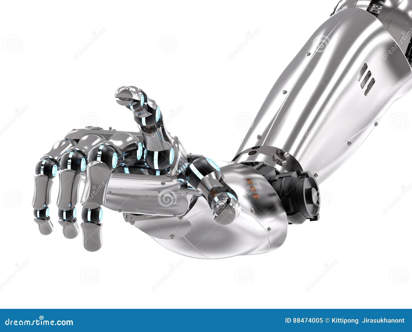 Apontar robótico da mão