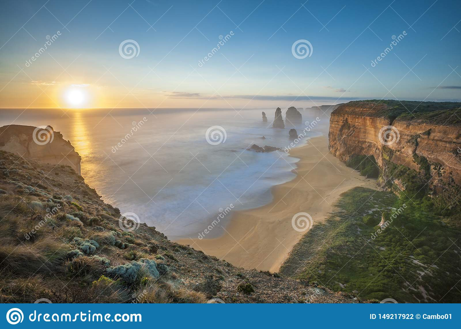The 12 Apostles at sunset, Great Ocean Road, Australia