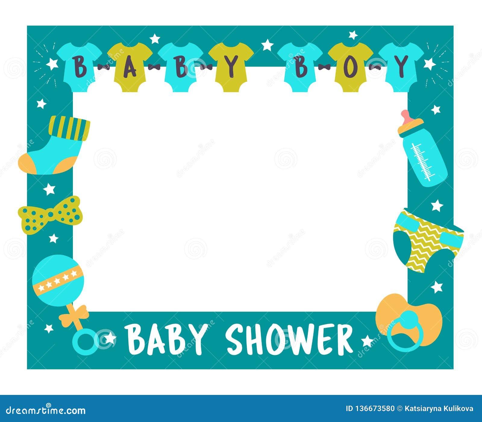 Apoyos de la cabina de la foto del muchacho del marco de la fiesta de bienvenida al bebé
