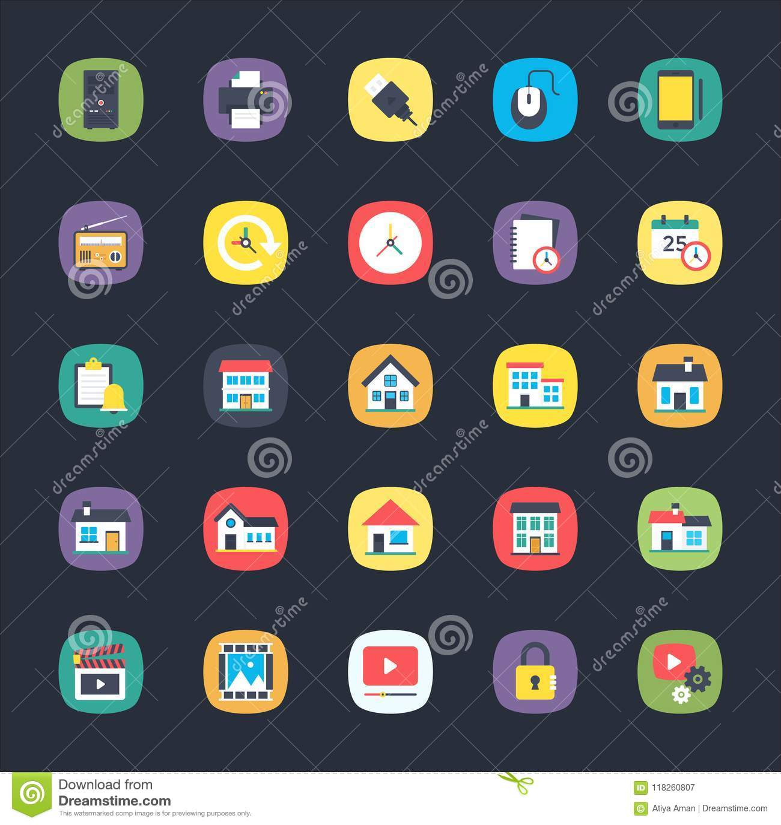App επίπεδα εικονίδια