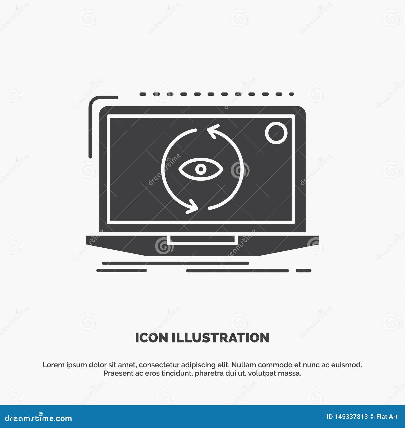 App, Anwendung, neu, Software, Aktualisierung Ikone graues Symbol des Glyphvektors f?r UI und UX, Website oder bewegliche Anwendu