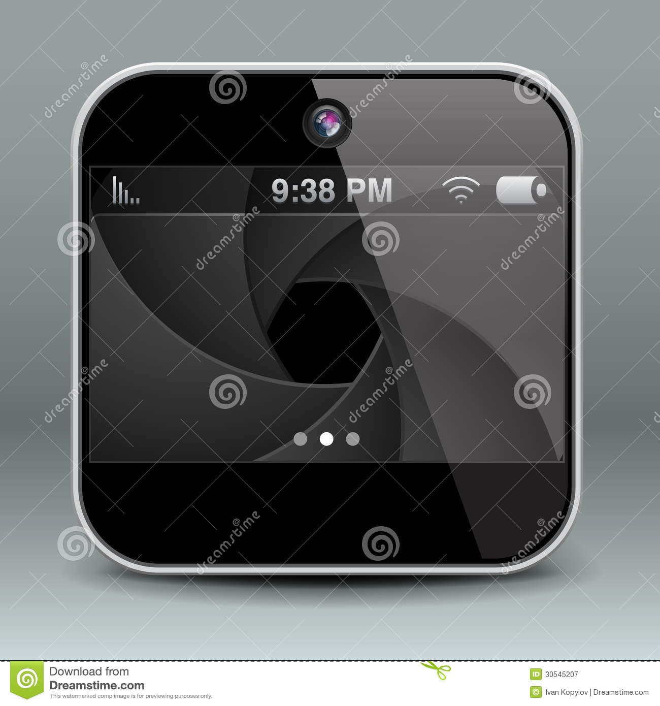 app design mobile phone camera icon royalty free stock photography image 30545207. Black Bedroom Furniture Sets. Home Design Ideas