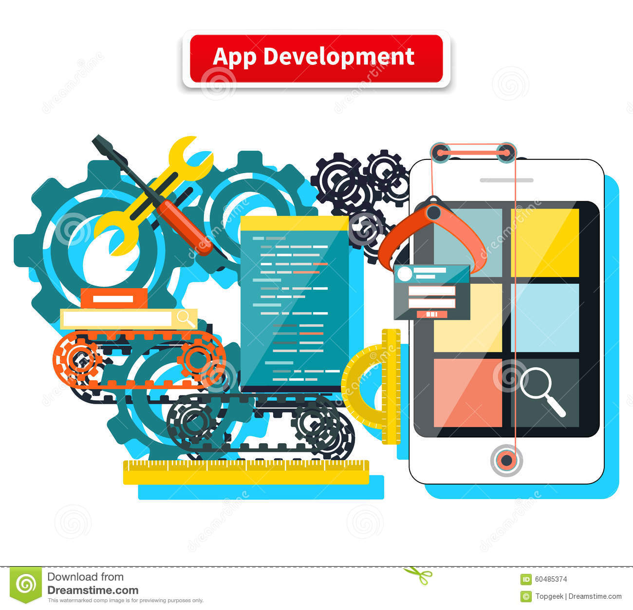 App Development Concept Stock Vector Image 60485374