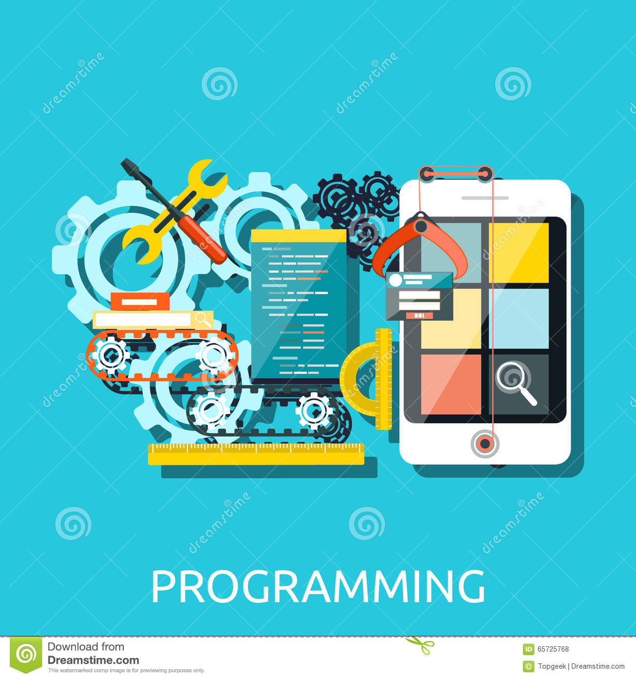 App Development Programming Concept Stock Vector Image
