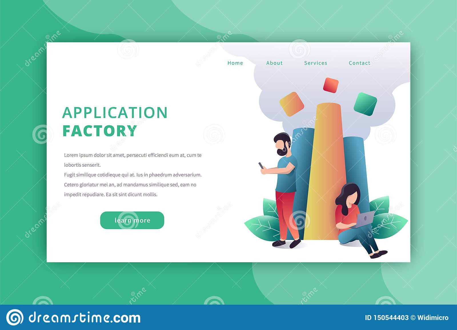 Application factory landing page