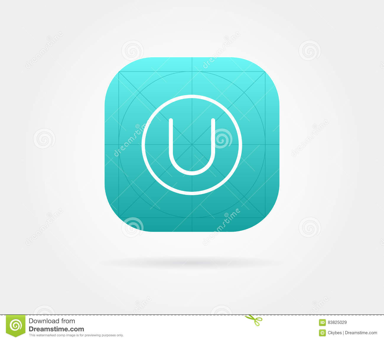 app icon template with guidelines vector fresh colour stock vector