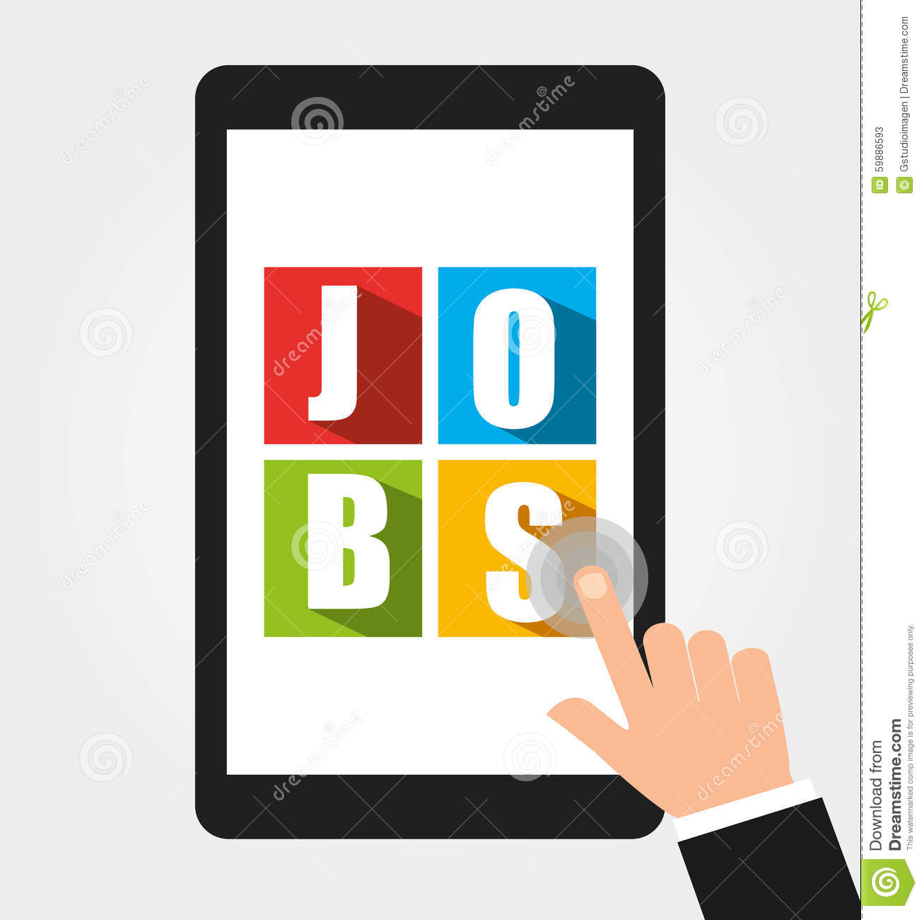 App For A Job Stock Vector Image 59886593