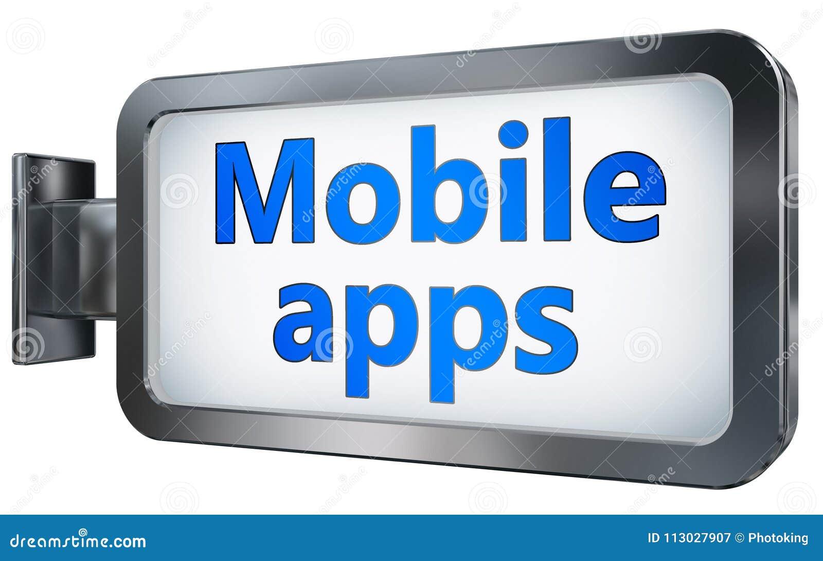 App móvil en fondo de la cartelera