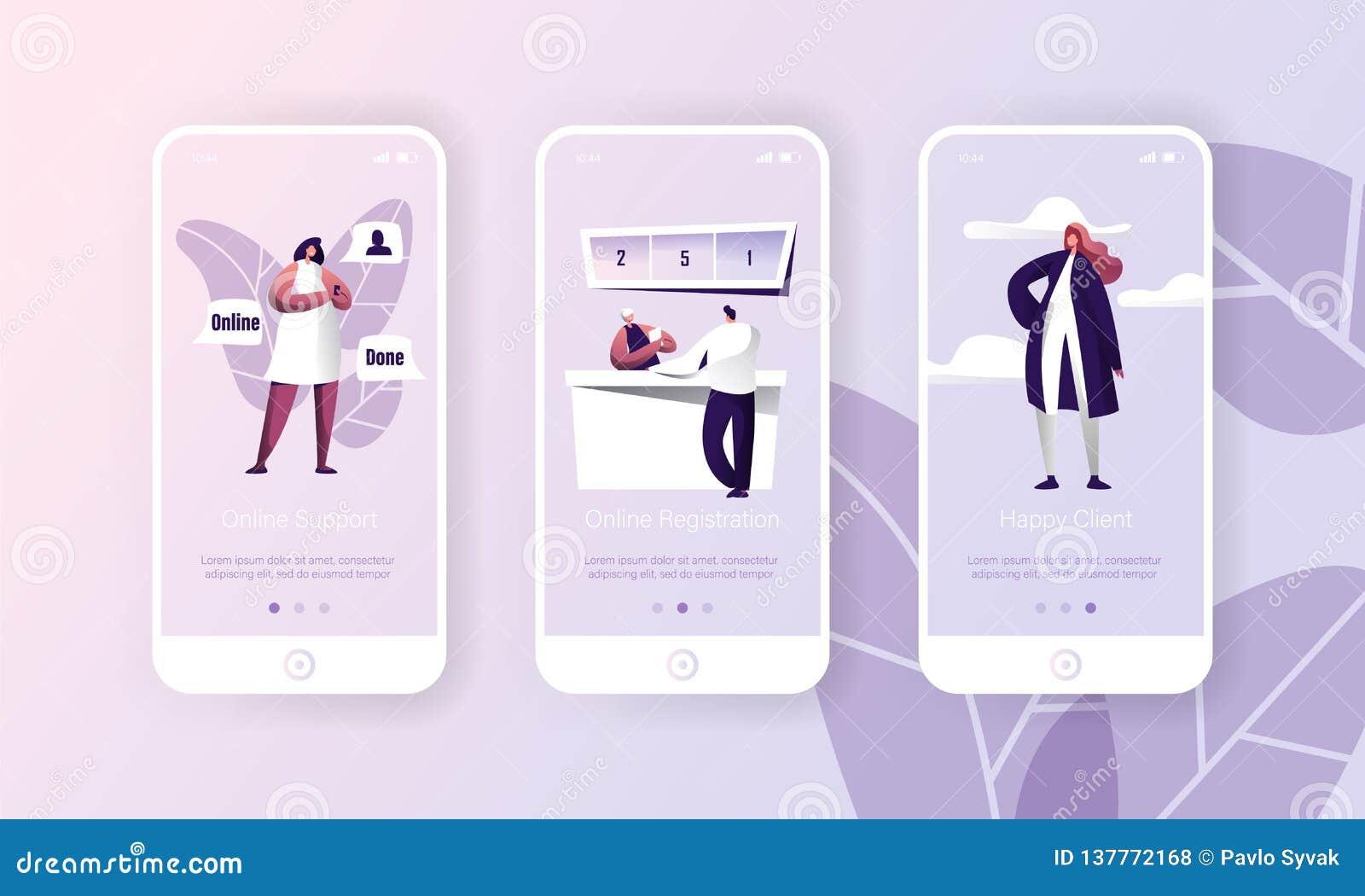 App online di servizio di Hepldesk del cliente di sostegno Pagina di applicazione mobile di tecnologia del registro della persona