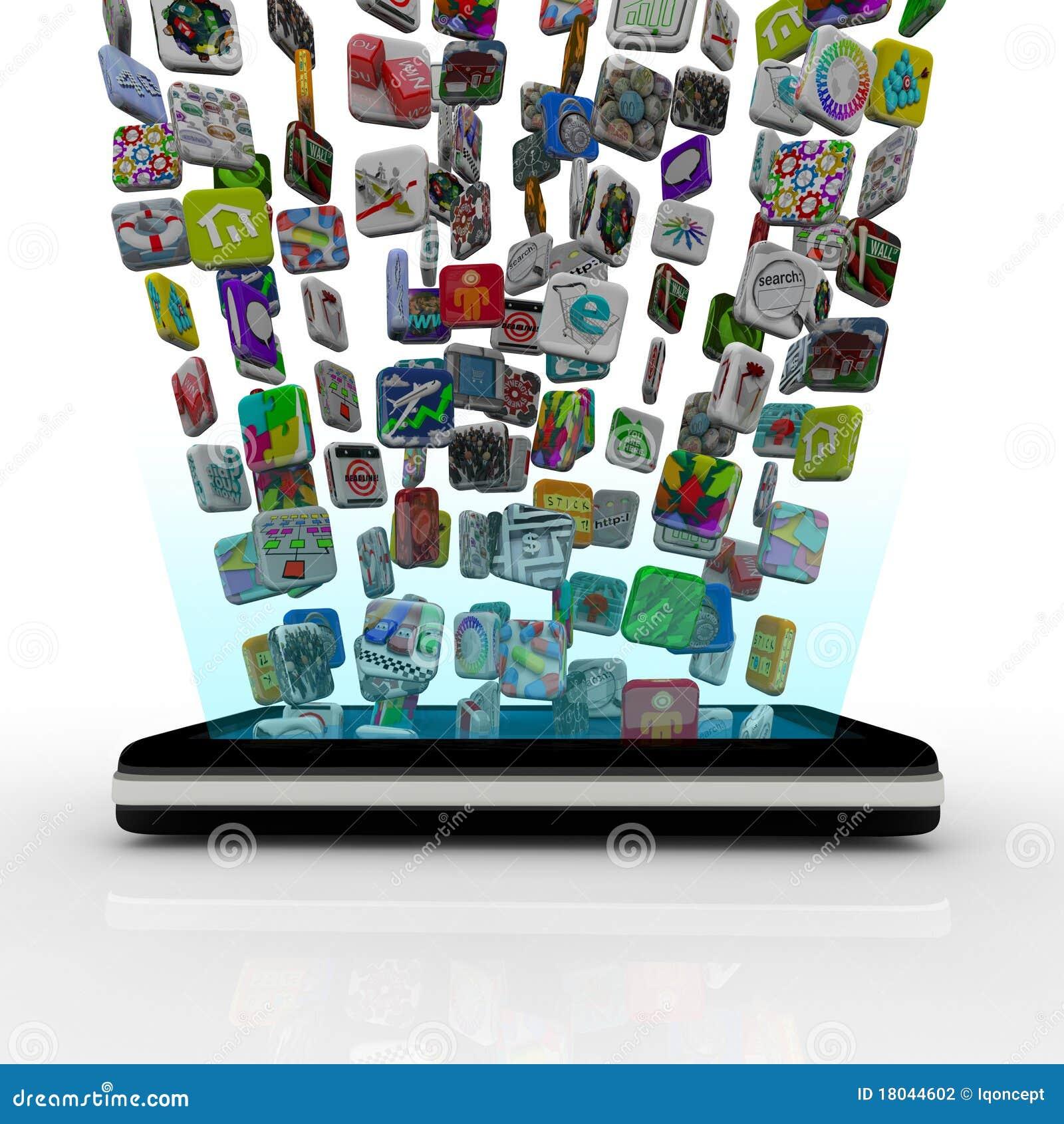 App Pictogrammen die in Slimme Telefoon downloaden