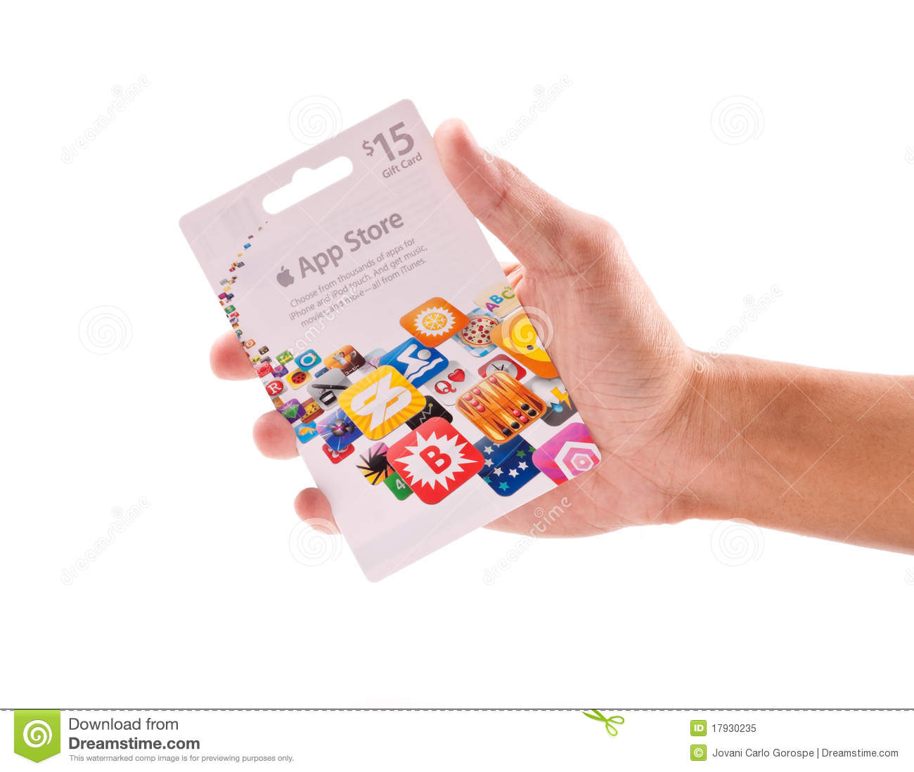 App Store Gift Card editorial image  Image of credit - 17930235