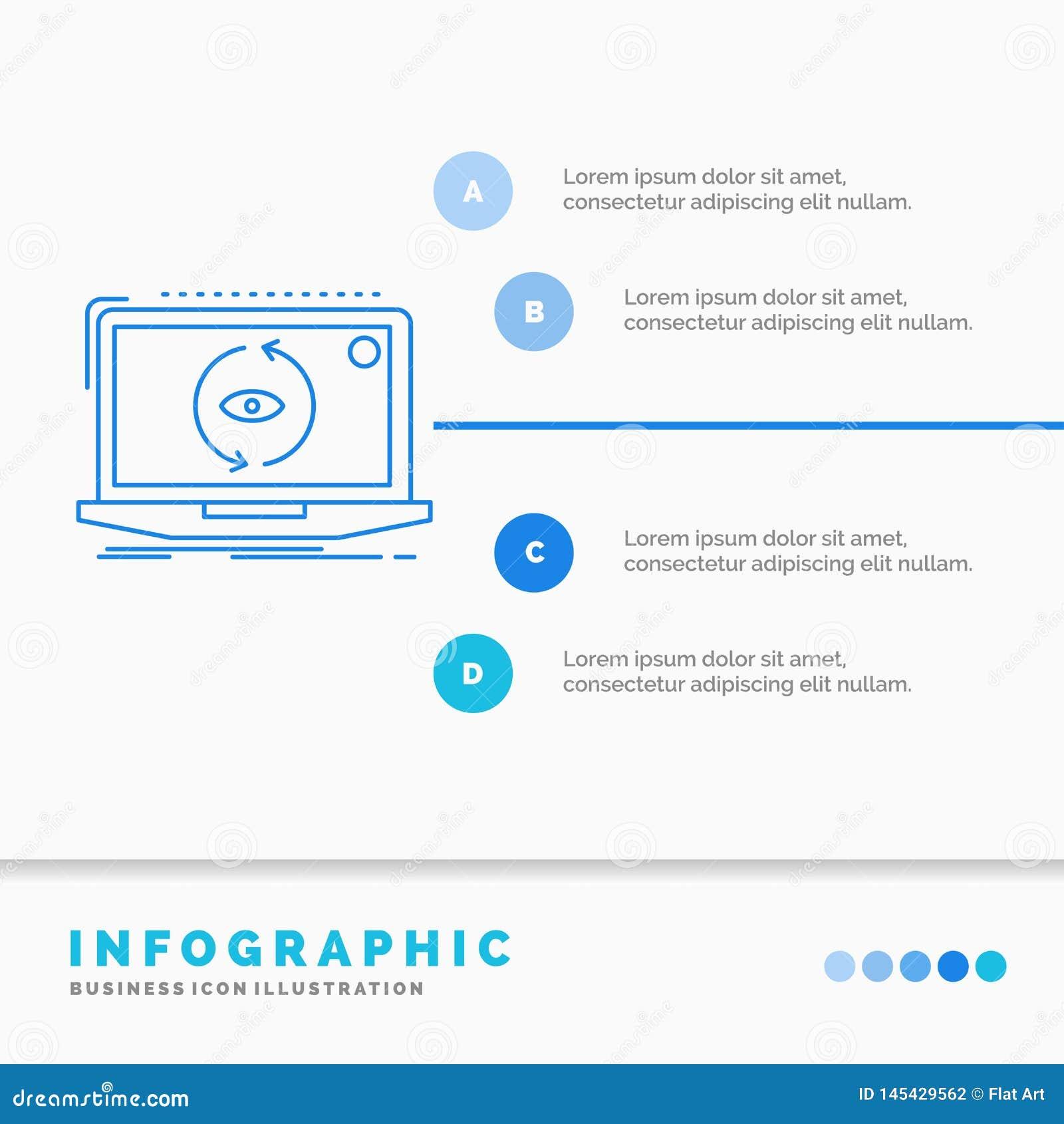 App, zastosowanie, nowy dla strony internetowej, oprogramowanie, aktualizacji Infographics szablon i prezentacja, Kreskowej B??ki