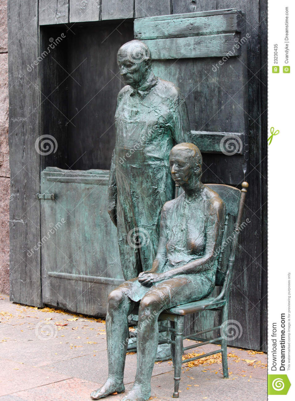 Roosevelt And Depression >> Appalachian Couple FDR Memorial Washington DC Editorial Image - Image: 23230435