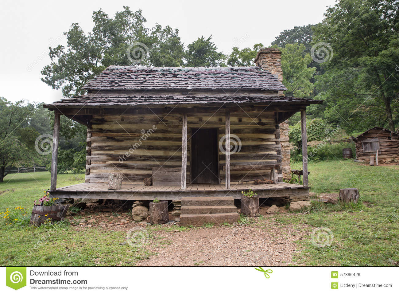 Appalachian log cabin stock photo image of mountain for Building a mountain cabin