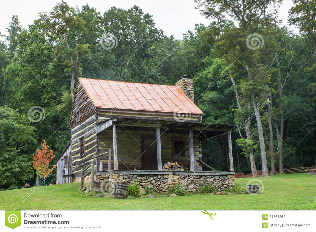 Appalachian log cabin stock photo image of ridge for Appalachian mountain cabins