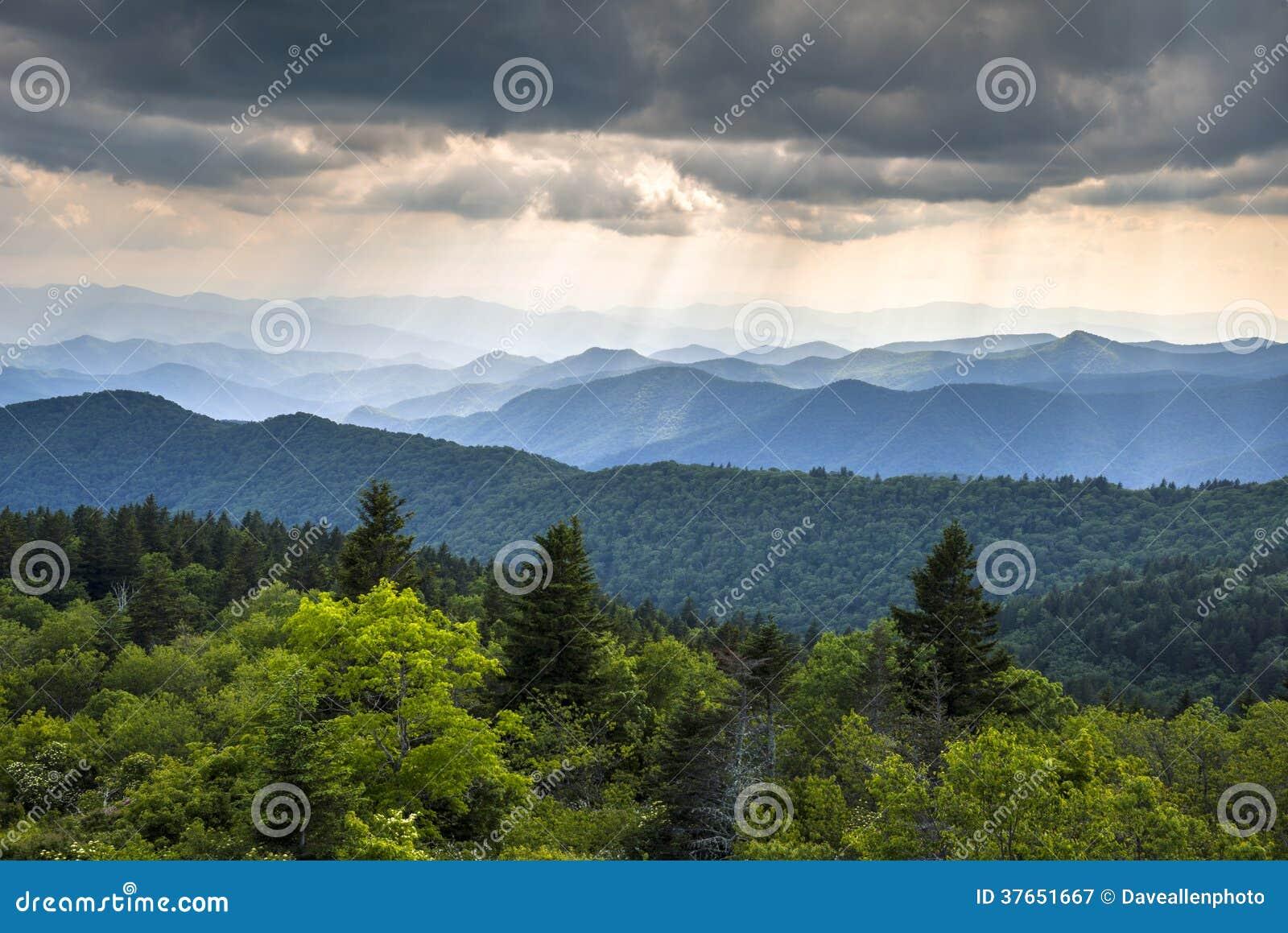 Appalachian Mountains Blue Ridge Parkway Western North