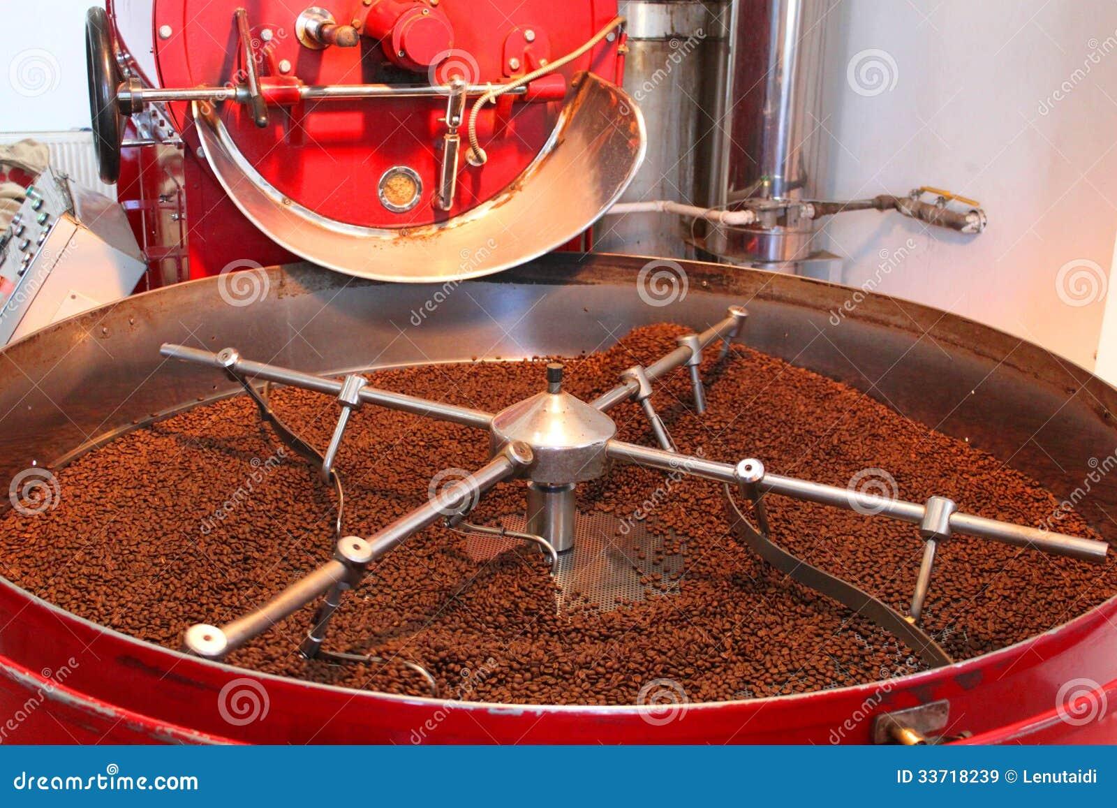 Apparaat aan het roosteren van en het drogen van koffiebonen