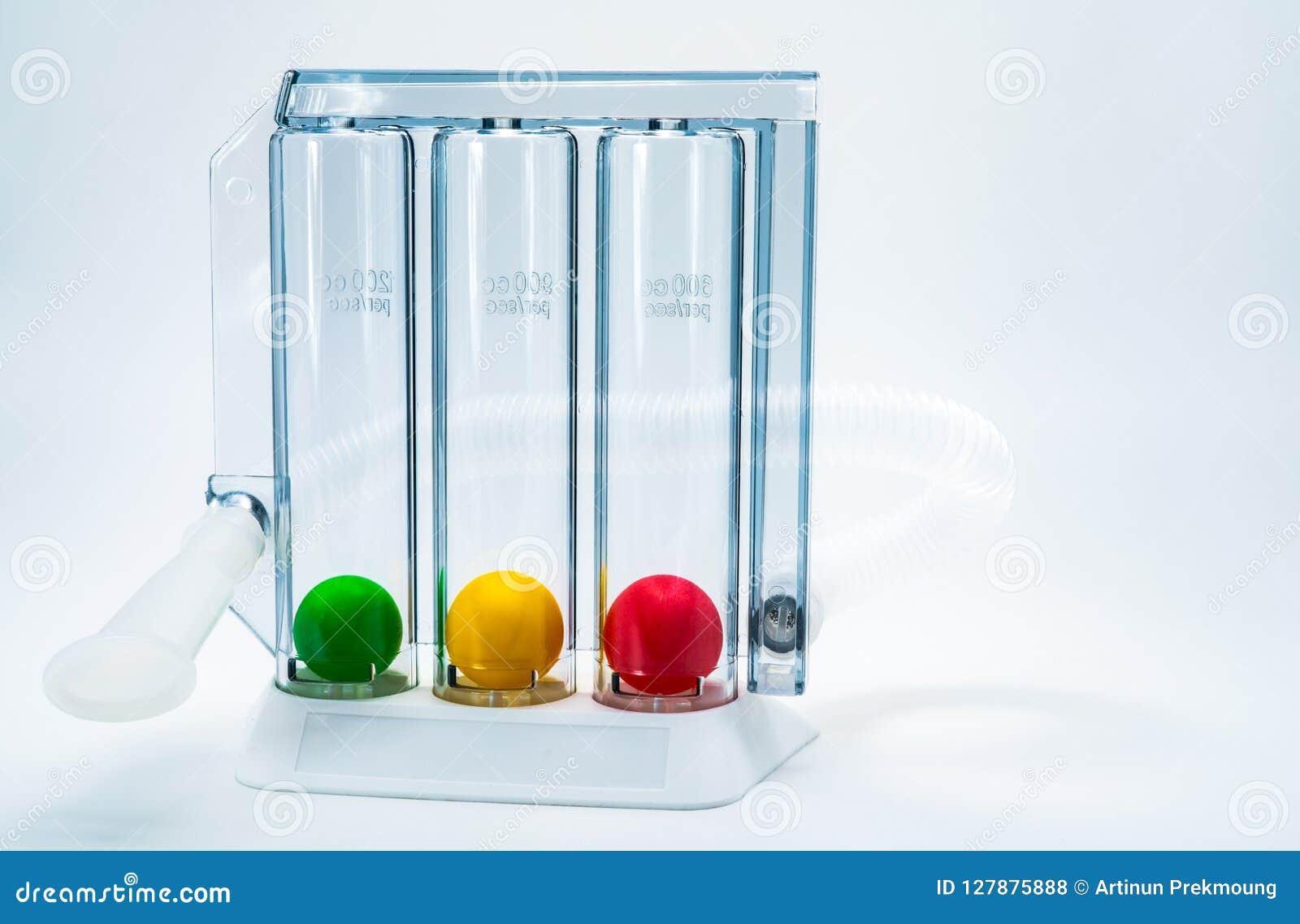 Apparat för att öva andning till och med djup inspirationtrippelkammare Medicinsk utrustning för respiratorisk terapi efter kirur