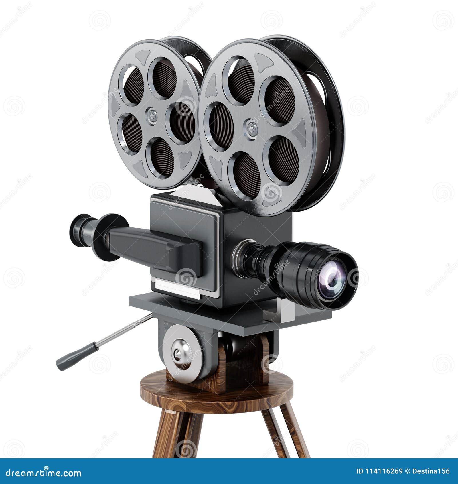 Appareil-photo de film antique d isolement sur le fond blanc illustration 3D