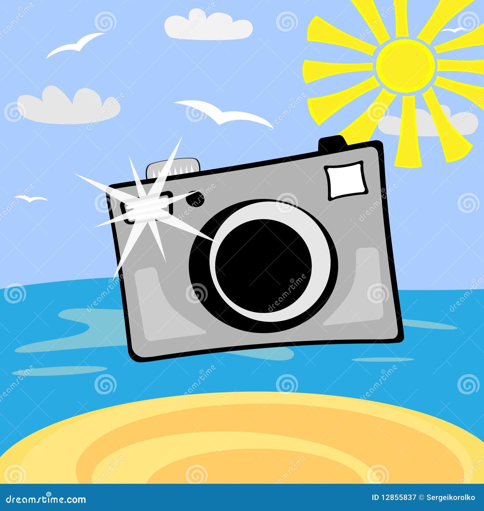 appareil photo de photo de dessin anim photographie stock libre de droits image 12855837. Black Bedroom Furniture Sets. Home Design Ideas