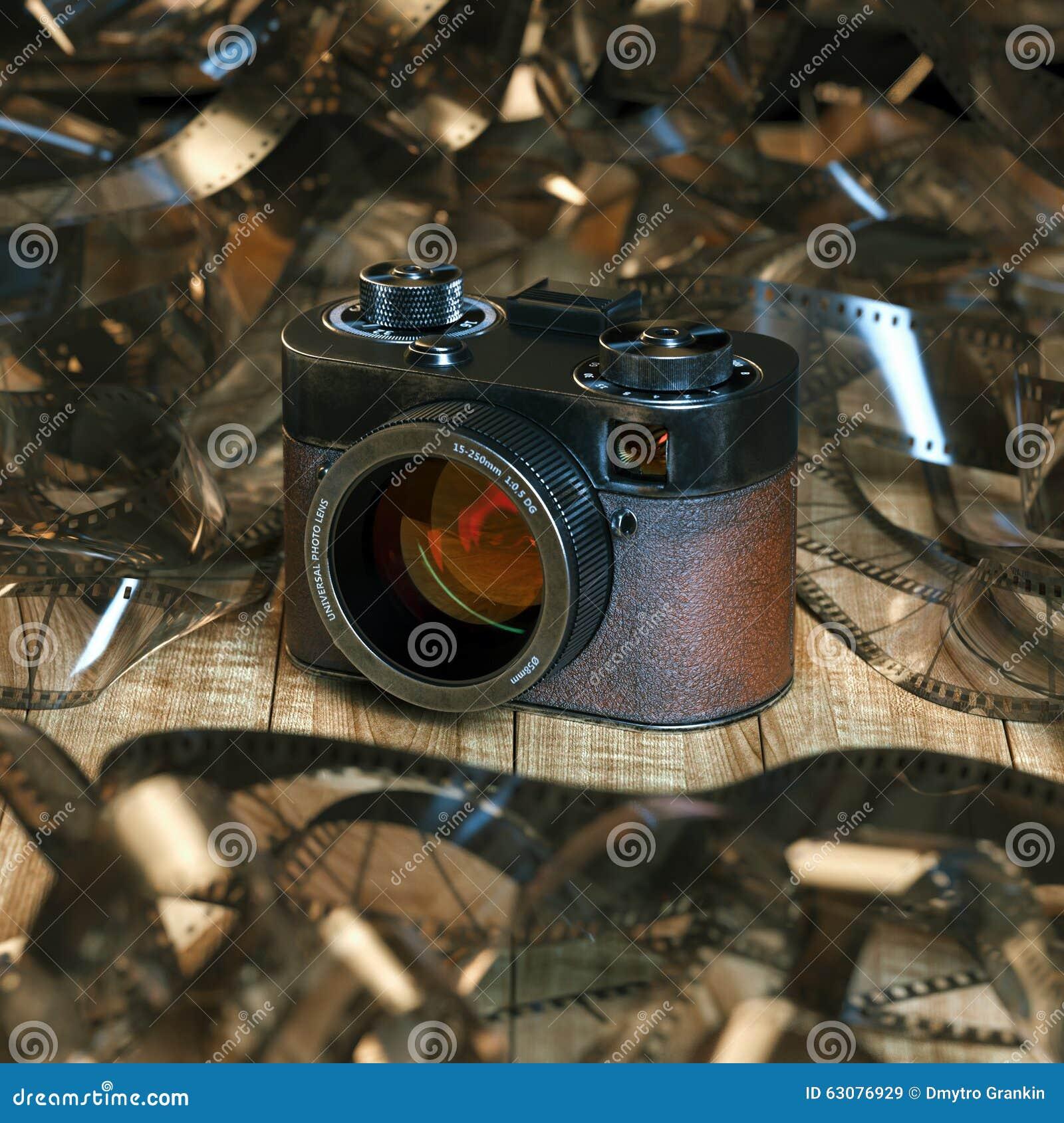 Download Appareil-photo De Photo De Vintage Sur La Table En Bois Dans La Perspective Du Fil Image stock - Image du abstrait, photographique: 63076929