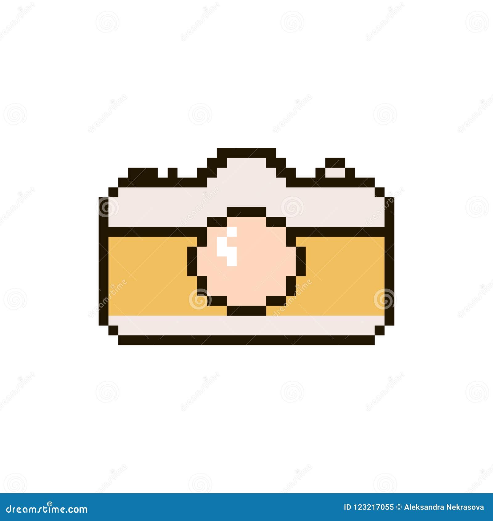 Appareil-photo de pixel de vecteur