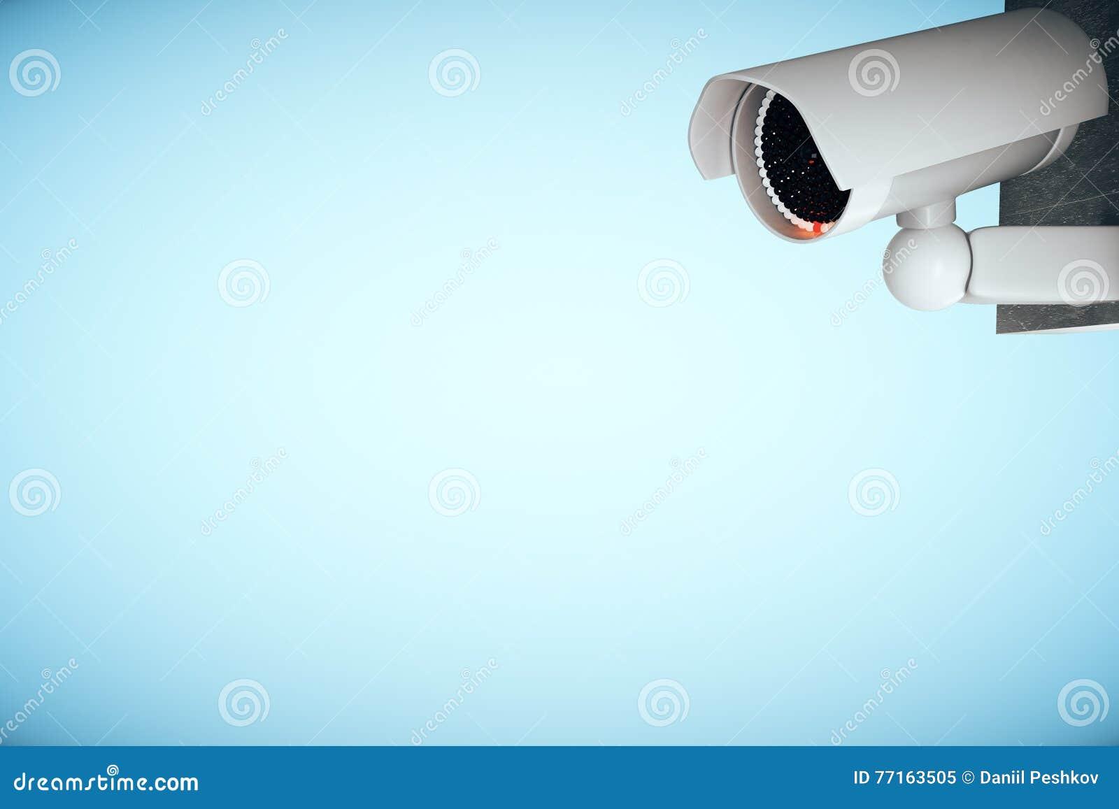 Appareil-photo de télévision en circuit fermé sur le fond bleu